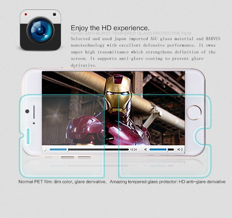 "Nillkin glass screen protector for Apple iPhone 6 (6S) (4.7"") (index H+)"