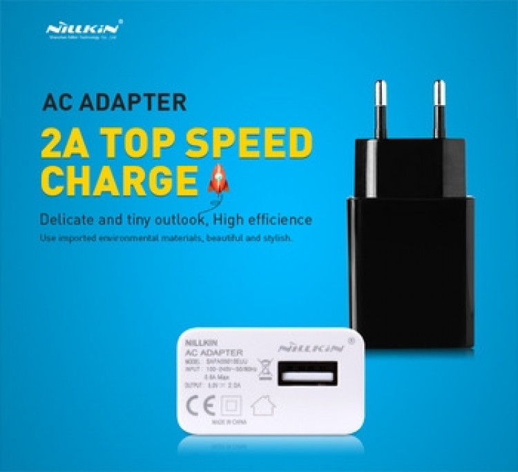 2A Nillkin AC adapter with USB output (EU plug)