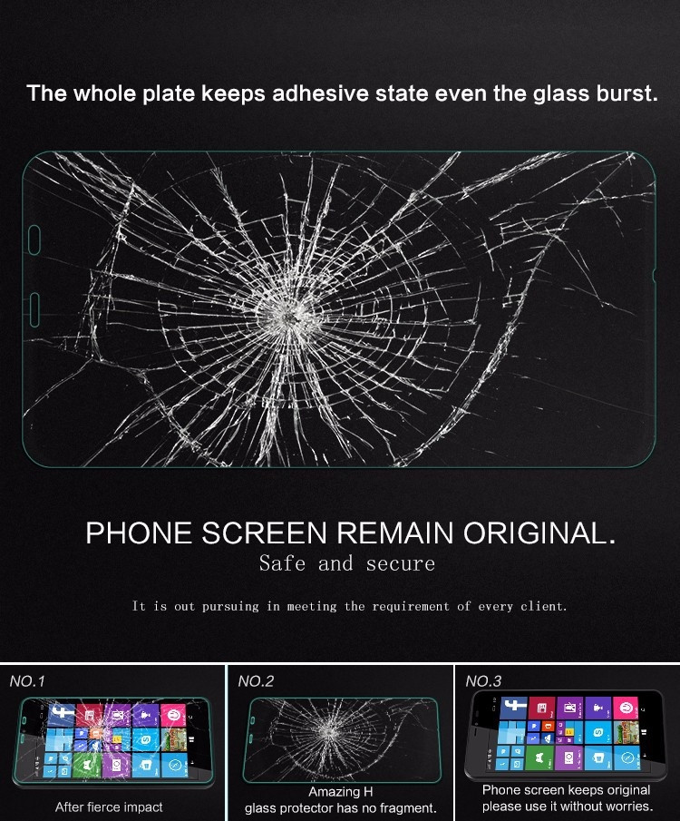 Nillkin glass screen protector for Microsoft Lumia 640XL, Nokia Lumia 640 XL (index H)