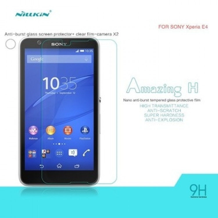 Nillkin glass screen protector for Sony Xperia E4, E4 Dual E2114 E2124 E2115 E2104 E2105 (index H)