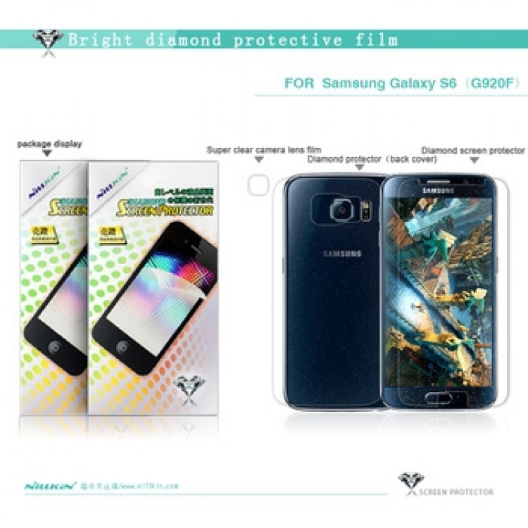 Nillkin bright diamond protective film for Samsung Galaxy S6, G9200, G920F