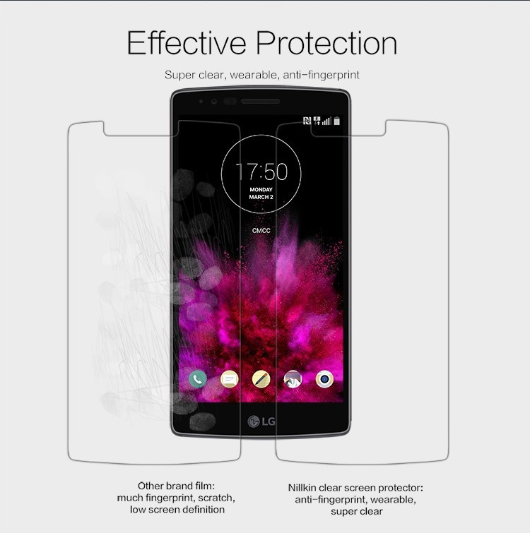 Nillkin anti-fingerprint protective film for LG G Flex 2, H950, H959
