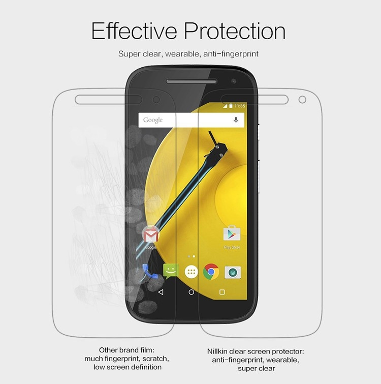 Nillkin anti-fingerprint protective film for Motorola MOTO E2 (XT1505)