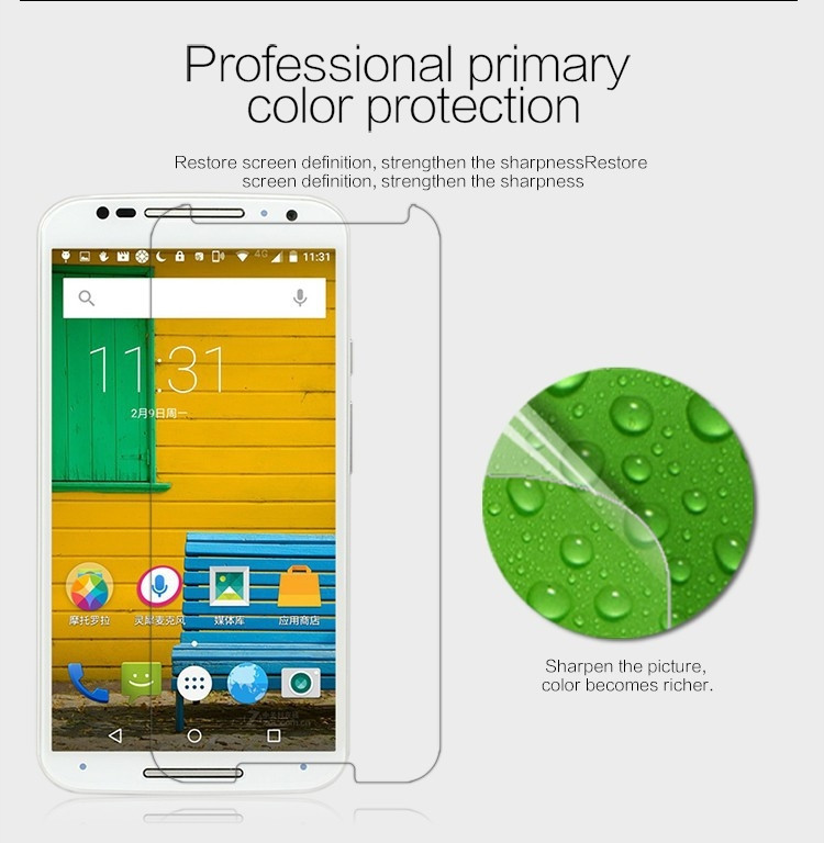 Nillkin anti-fingerprint protective film for Motorola Moto X+1 XT1085 X2 XT1097
