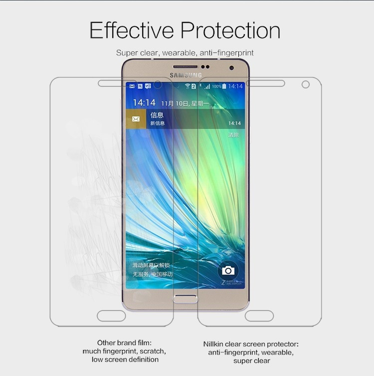 Nillkin anti-fingerprint protective film for Samsung Galaxy A7 (2014), A700F A7000