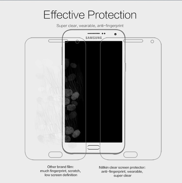 Nillkin anti-fingerprint protective film for Samsung Galaxy E7, E700