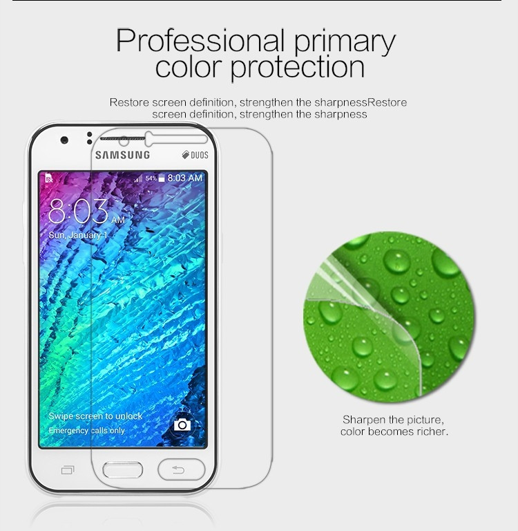 Nillkin anti-fingerprint protective film for Samsung Galaxy J1 Duos, J100