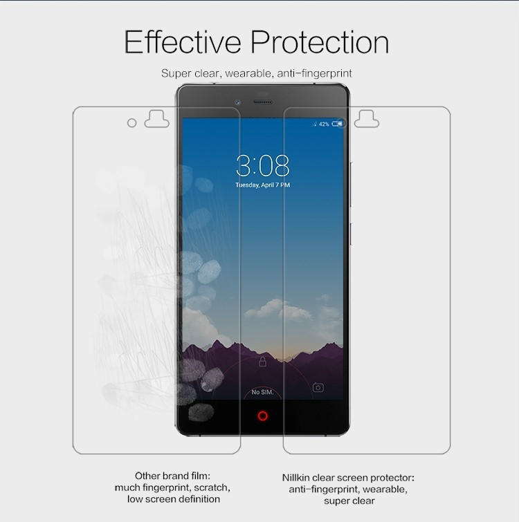 "Nillkin anti-fingerprint protective film for Zte Nubia Z9 max, 4G FDD LTE (5.5"")"