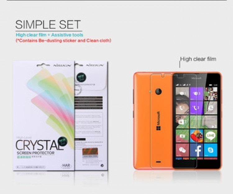 "Nillkin anti-fingerprint protective film for Microsoft Lumia 540 (5.0"")"