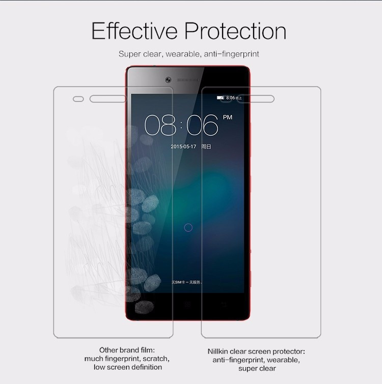 "Nillkin anti-fingerprint protective film for Lenovo VIBE Shot (5.0"")"
