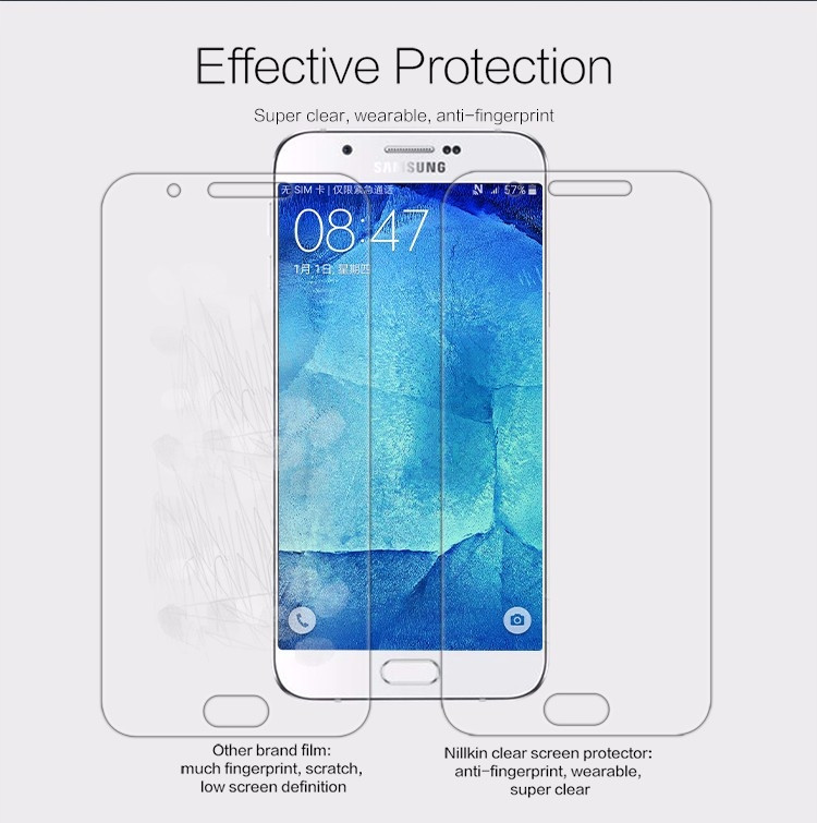 "Nillkin anti-fingerprint protective film for Samsung Galaxy A8, A8000 (5.7"")"