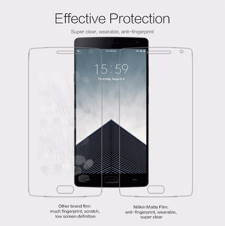 """Nillkin matte screen protector film for OnePlus Two, OnePlus 2, OnePlus2 (5.5"""")"""