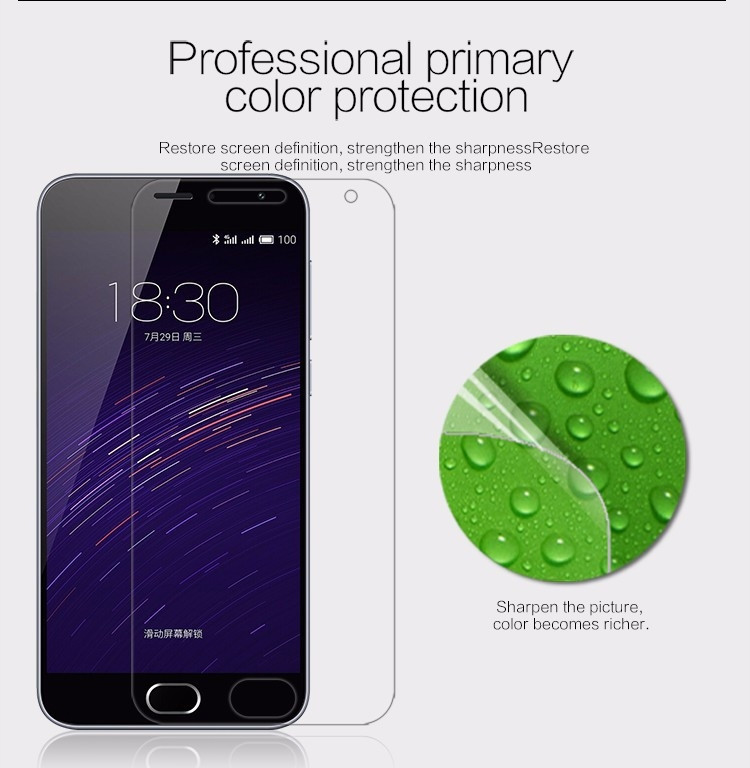 "Nillkin anti-fingerprint protective film for Meizu M2, Meilan M2 (5.0"")"
