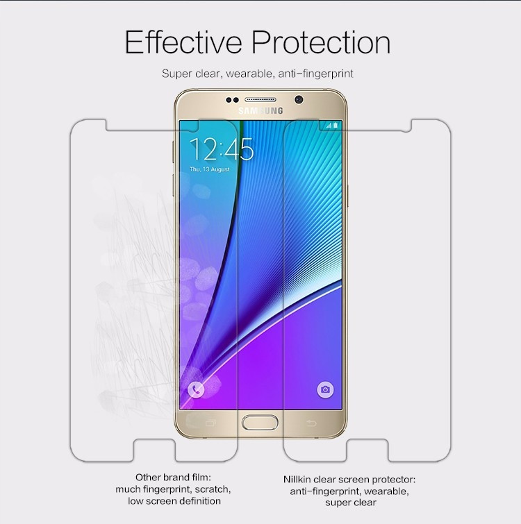 "Nillkin anti-fingerprint protective film for Samsung Galaxy Note 5, N920, N9200 (5.89"")"