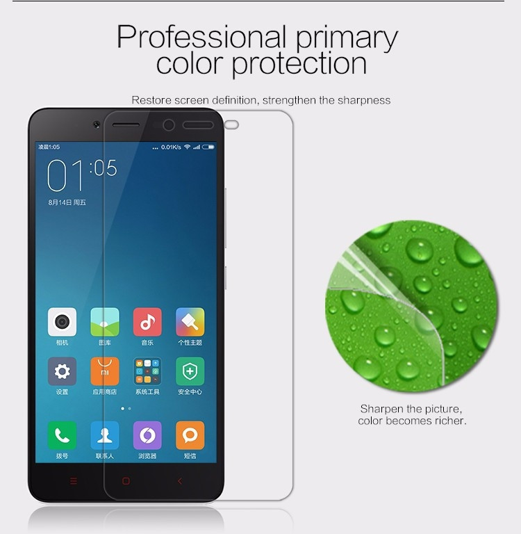 Nillkin matte screen protector film for Xiaomi Hongmi Note 2, Redmi Note 2, Note2
