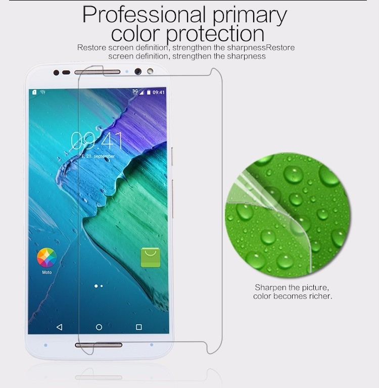 Nillkin anti-fingerprint protective film for Motorola MOTO X Style, X Pure Edition, XT1570, Moto X+2