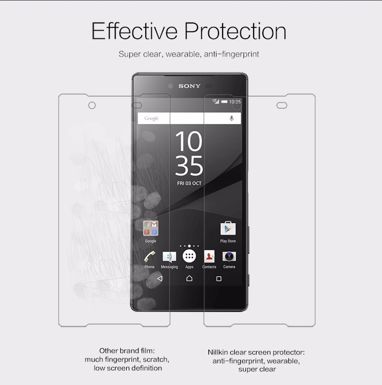 "Nillkin anti-fingerprint protective film for Sony Xperia Z5 Premium, Xperia Z5 Plus (5.5"")"