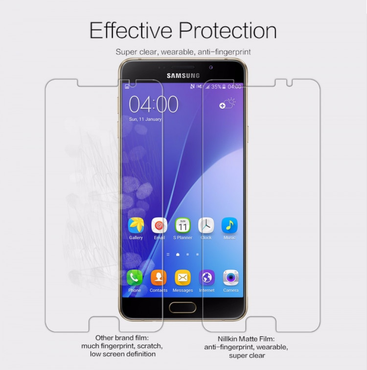 Nillkin matte screen protector film for Samsung Galaxy A7 (2016), A7100, A710F (2016)