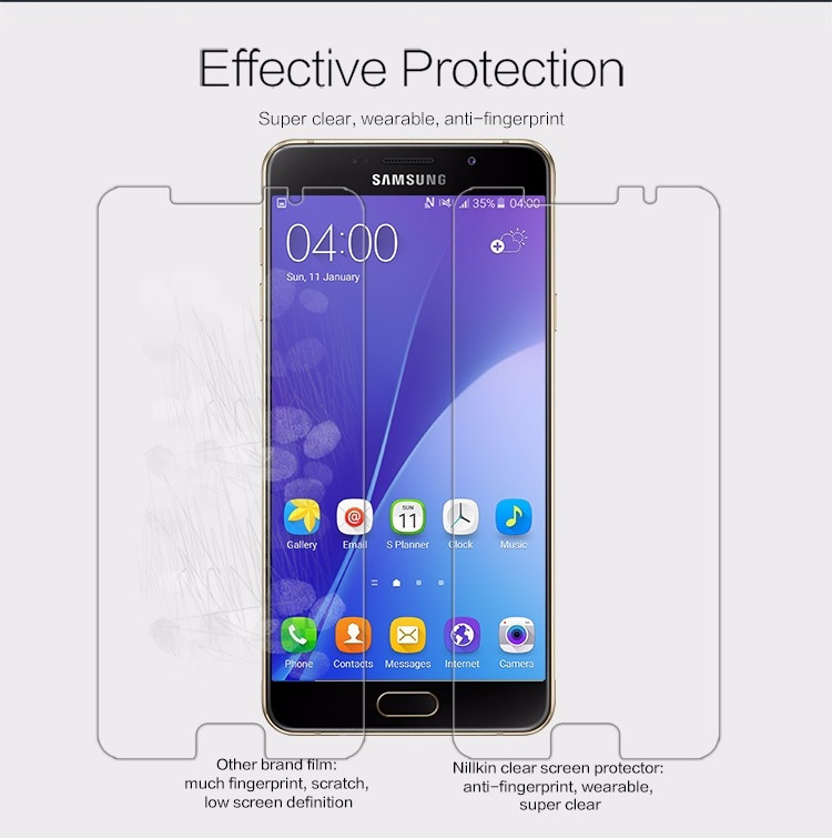 Nillkin anti-fingerprint protective film for Samsung Galaxy A7 (2016), A7100, A710F