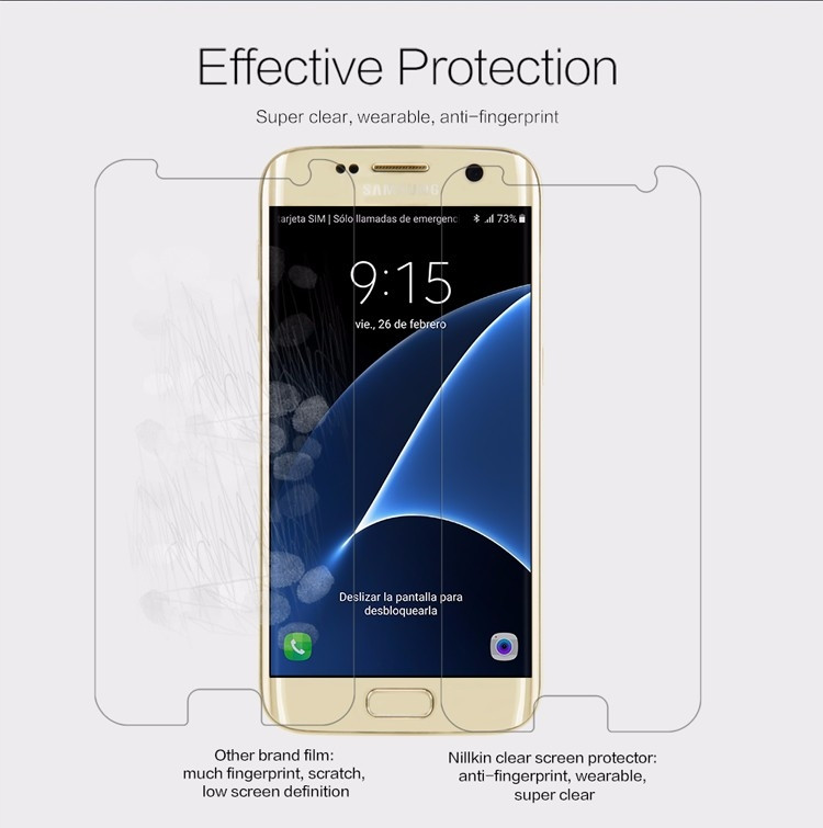 Nillkin anti-fingerprint protective film for Samsung Galaxy S7, Jungfrau, Lucky, G930A, G9300