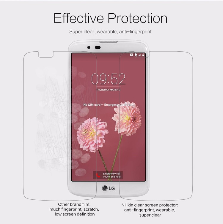 "Nillkin anti-fingerprint protective film for LG K10, M2 (5.3"")"