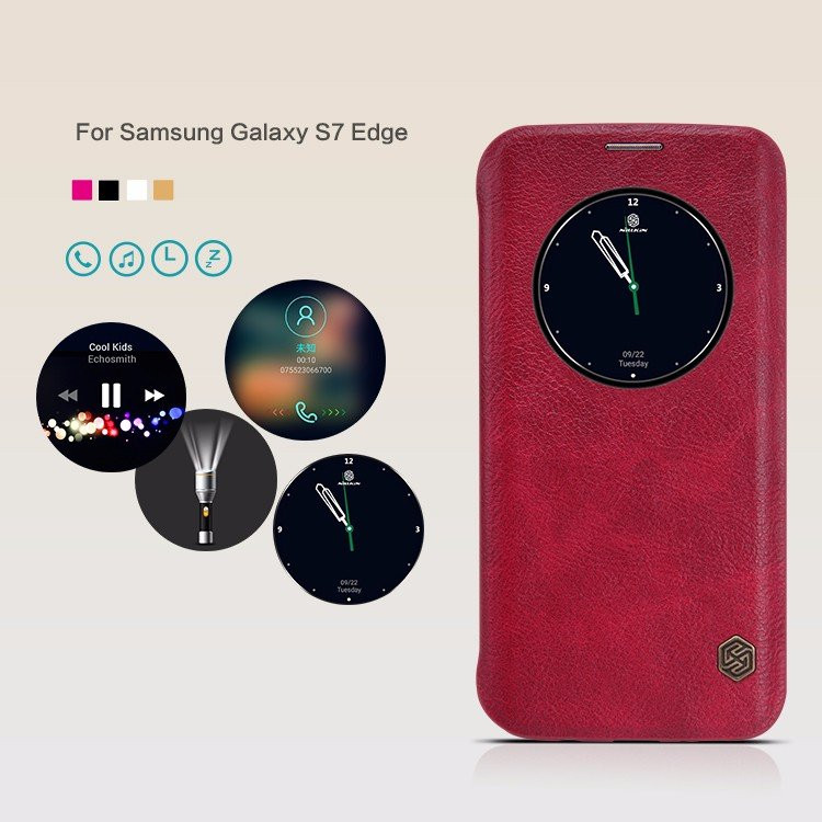 "Nillkin Qin Series case for Samsung Galaxy S7 Edge, G9350, G935A, G935F (5.5"")"