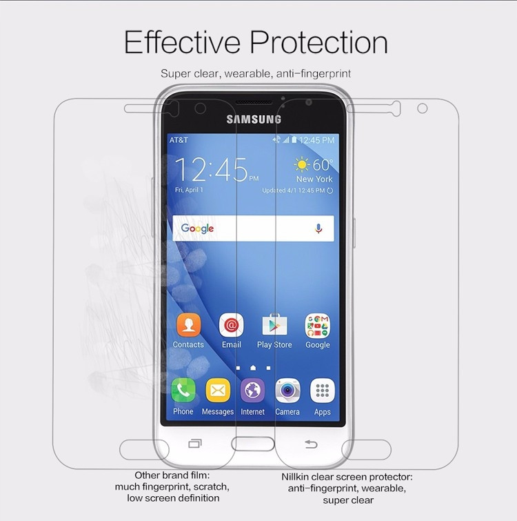 Nillkin anti-fingerprint protective film for Samsung Galaxy J1 (2016) 4.5""
