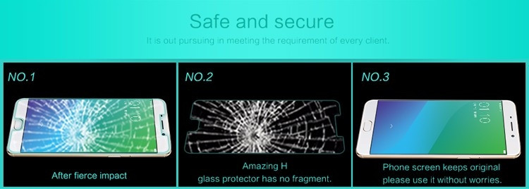 "Nillkin glass screen protector for OPPO R9 Plus, R9 Plustm A (6.0"") (index H)"