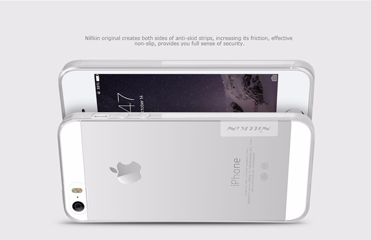 Nillkin Silicone nature TPU case for Apple iPhone 5S, iPhone SE, iPhone 5SE, iPhone 5e