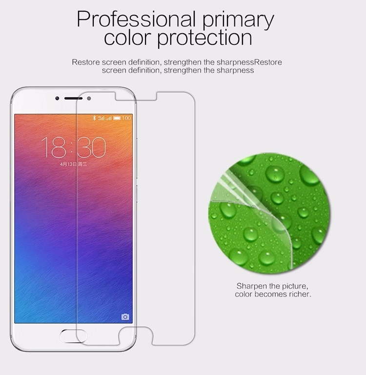 "Nillkin anti-fingerprint protective film for Meizu PRO 6, Meizu PRO 5 Mini (5.2"")"