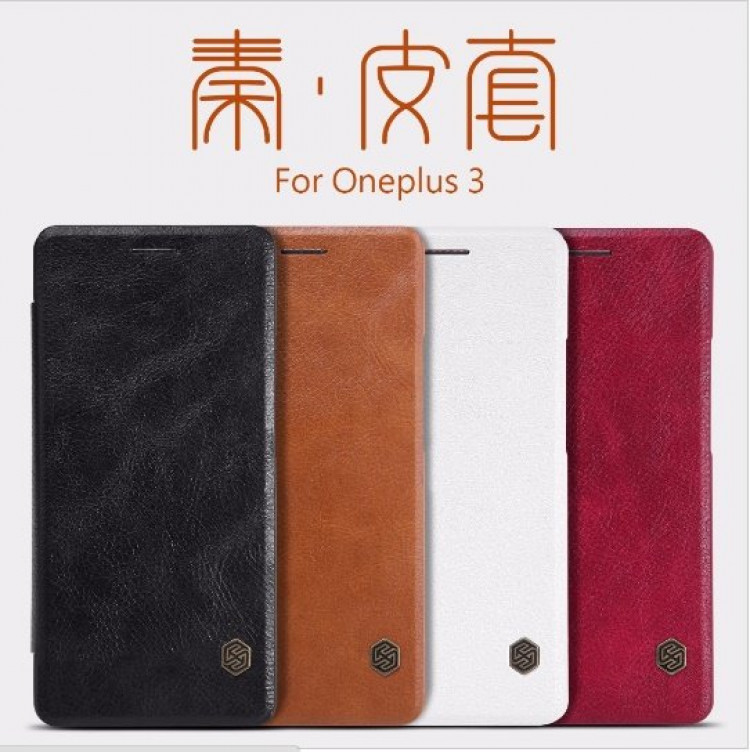 "Nillkin Qin Series case for OnePlus 3, OnePlus 3, OnePlus3, A3000, OnePlus Three (5.5"")"