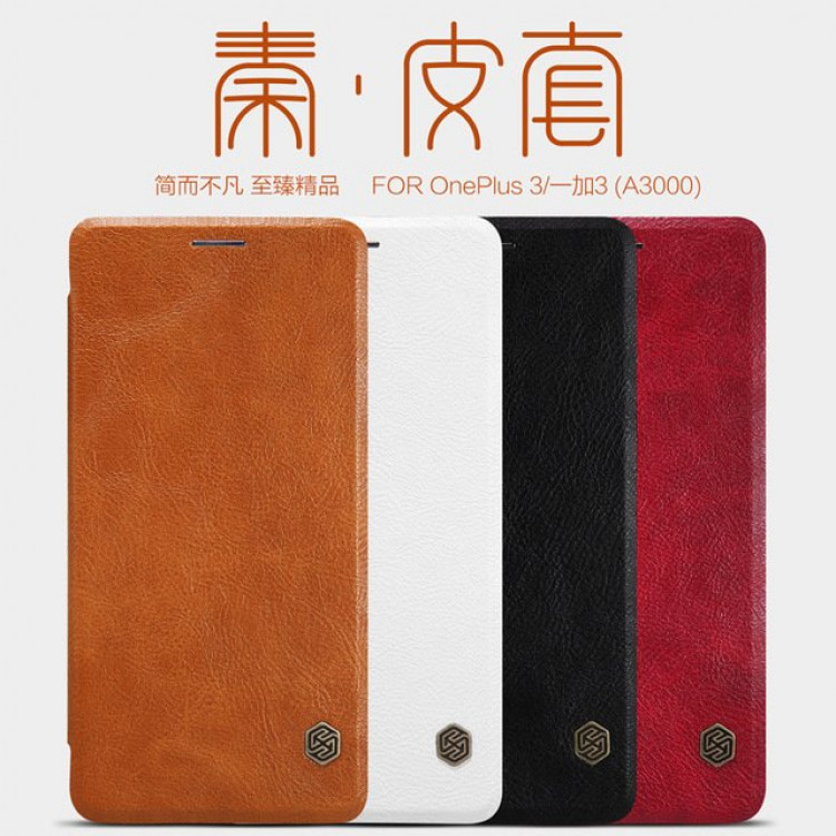 "Nillkin Qin Series case for OnePlus 3T, OnePlus 3 (5.5"")"