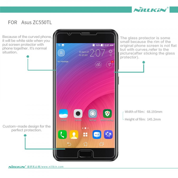 Nillkin screen protector film for ASUS Zenfone 4 max plus, X015D (5.5)