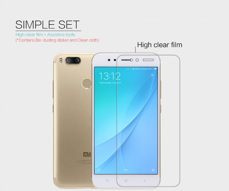 2 pcs x Nillkin screen protector film for XiaoMi MiA1