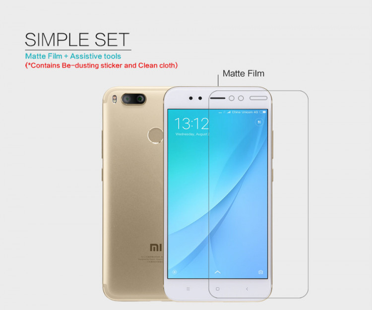 2 pcs x Nillkin screen protector film for Xiaomi Mi A1