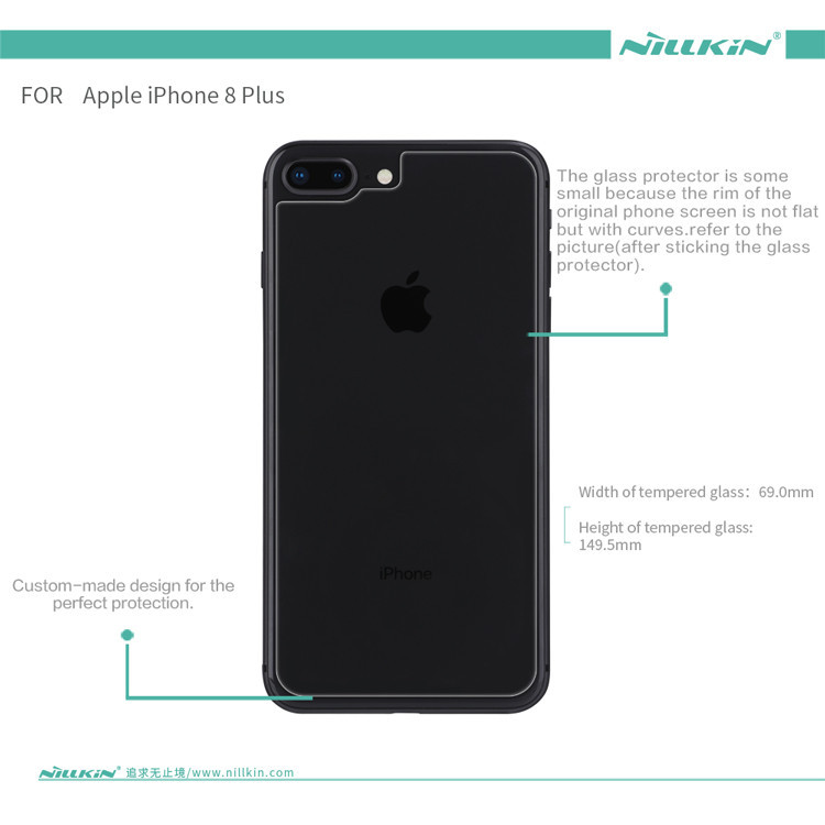 Nillkin back cover glass protector for Apple iPhone 8, iPhone 8 Plus (index H)
