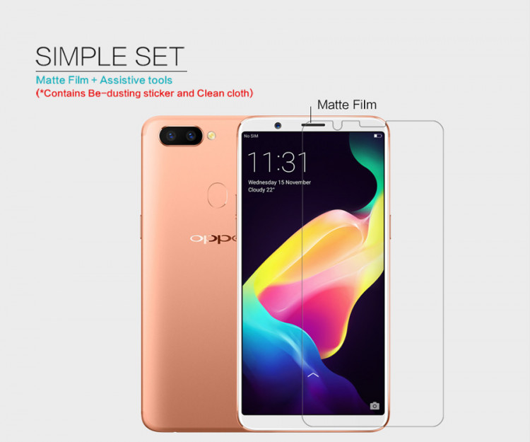 2 pcs x Nillkin screen protector film for OPPO R11S (6.01)