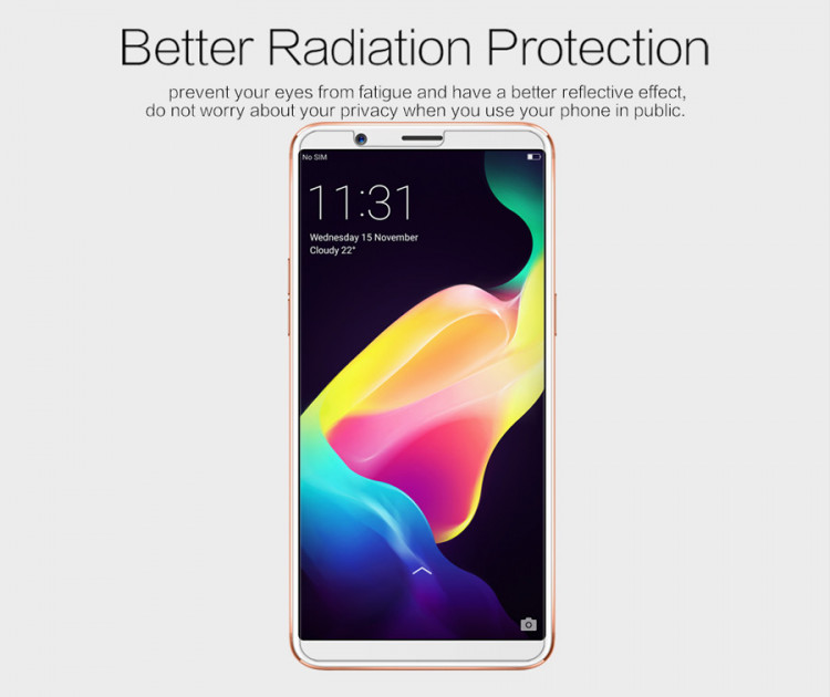 2 pcs x Nillkin screen protector film for OPPO R11S plus (6.43)