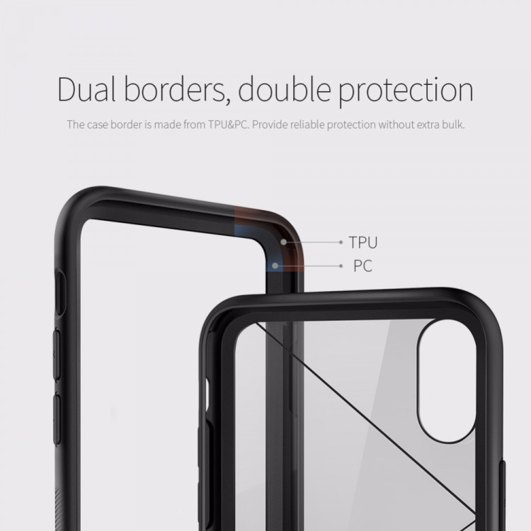 Nillkin Tempered glass Mirror Surface back case for Apple iPhone X, iPhone 10