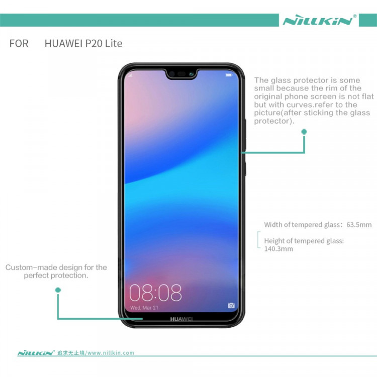 Nillkin glass screen protector for Huawei P20 Lite (5 84) (index H+PRO)