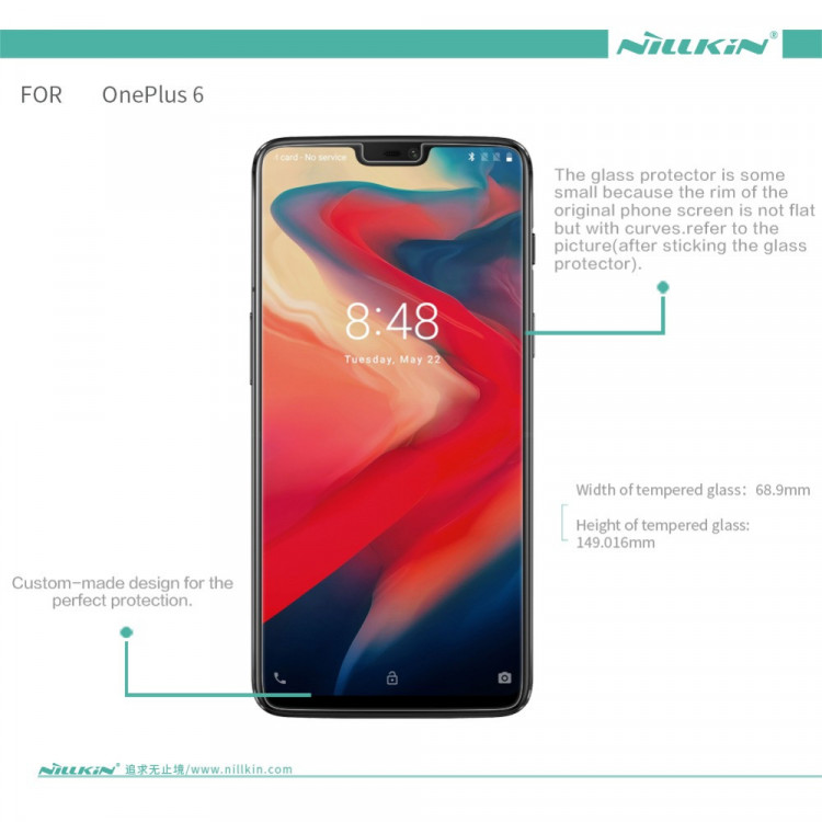 Nillkin glass screen protector for Oneplus 6 (6.28) (index H+PRO)