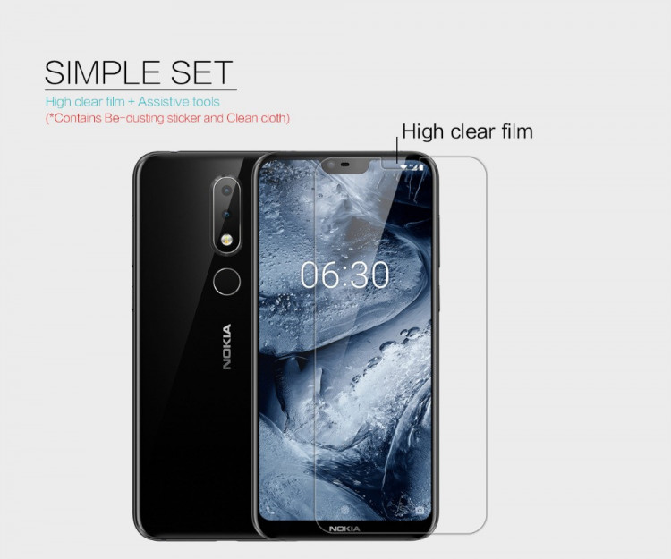 2 pcs x Nillkin screen protector film for Nokia X6 2018 (5.8)