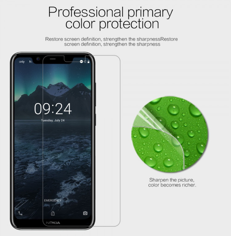 2 pcs x Nillkin screen protector film for Nokia X5 5.1 Plus (5.86)